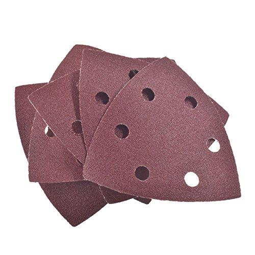 Jrl 5pc 90 mm * 90 mm * 90 mm disque de ponçage pour Grain 120 6 trous papier abrasif