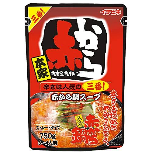 イチビキ ストレートパウチ赤から鍋スープ3番 750g まとめ買い(×5)