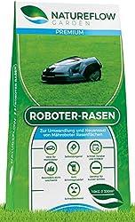 Premium Rasensamen für Mähroboter 10kg - Roboter Grassamen - Schnellkeimend und Vital - Selbstdüngend für pflegeleichten Garten