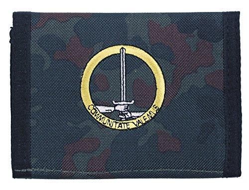 Nylon Portafoglio, Mimetico, 1. NL/D de corps, Klettv., ausweisf.