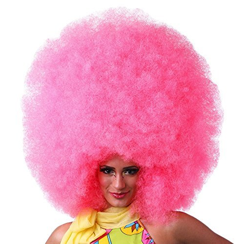 West Bay Hifro Super Afro Wigs - Hot Pink by West Bay Inc.