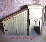 Smileswoodcraft Wooden Coal Bunker and Log Store with Doors