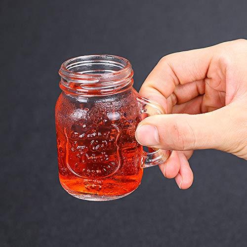 QLTY Vaso de Whisky de Vidrio sin Plomo,Mini Vaso de albañil de...
