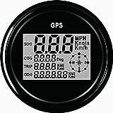 ELING Garantierter digitaler GPS-Geschwindigkeitsmesser-Kilometerzähler für Auto-Motorrad-Boot 85mm 12V/24V
