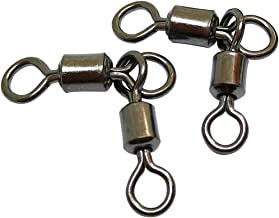 Unclesport 50PCS 3 Way Swivels Fishing,Heavy Duty Crane Swivel Fishing Slid 3-Way T Turn Swivel for Typing Double Drop Rigs for Fresh and Saltwater 7LB-176LB