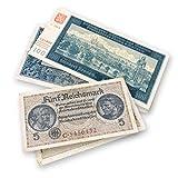 IMPACTO COLECCIONABLES Billetes Antiguos - 2 Billetes utilizados en Las Invasiones y Territorios Ocupados por los Nazis, Segunda Guerra Mundial 1939-1945