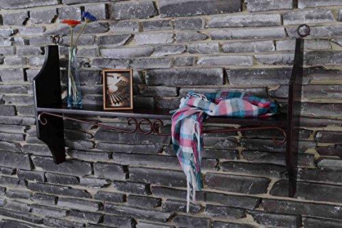MiaMöbel Wandregal Mexico Möbel 100 cm Kolonialstil Massivholz Pinie Kolonialstil