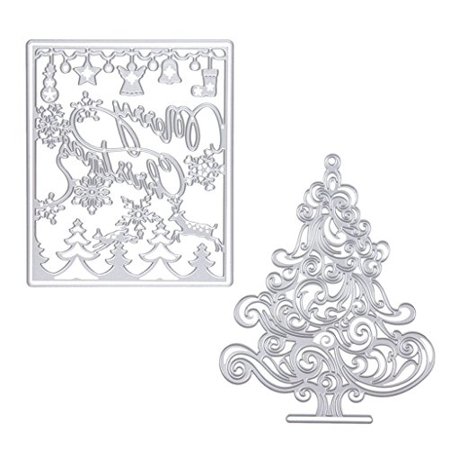 Sharplace 2pz Fustelle Taglio di Metallo Scrapbooking Scimpanzé Di DIY Natale Decorazione