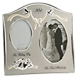 Haysom Interiors Two Tone Silver Plated 30th Pearl Anniversary Double Picture Frame