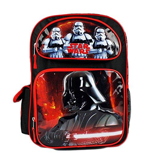 Star Wars Darth Vader and Strom Troopers Boys 16' Large School Backpack Bag