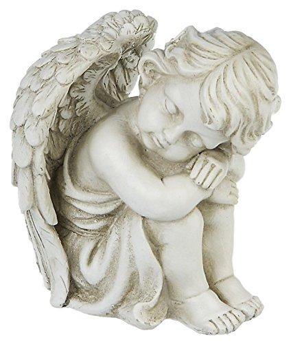 Mui Garten Dekor kleiner Eden Engel Deko Figur sitzend Engelsfigur Engelchen Fantasy Wohndeko Garden Decor
