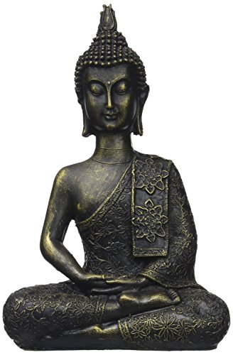 Zen'Light - Estatuilla Buda Thai, Resina, Bronce, 6 x 13 x 21 c