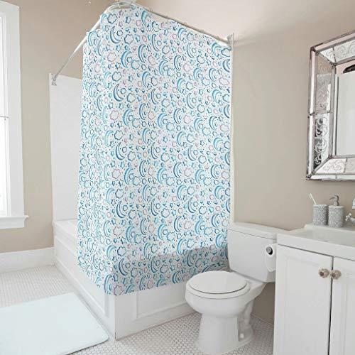 Shaoziyun Douchegordijn, 100% polyester, zacht, machinewasbaar, badkamerdecoratie voor badkamer, met open haken, graffiti