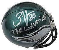 Brian Dawkins Philadelphia Eagles autographed mini-helmet Inscribed Wolverine JSA cert - Autographed NFL Mini Helmets