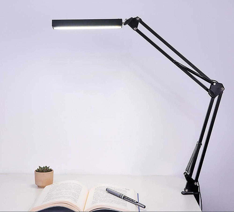 TXOTN LED Metall Schreibtischlampe 5W Büro Tischlampe Berührungsempfindliche Stufenlose Dimmung Augenschutz Technologie blendfrei Merkfunktion Verstellbarem Arm Arbeitsleuchte