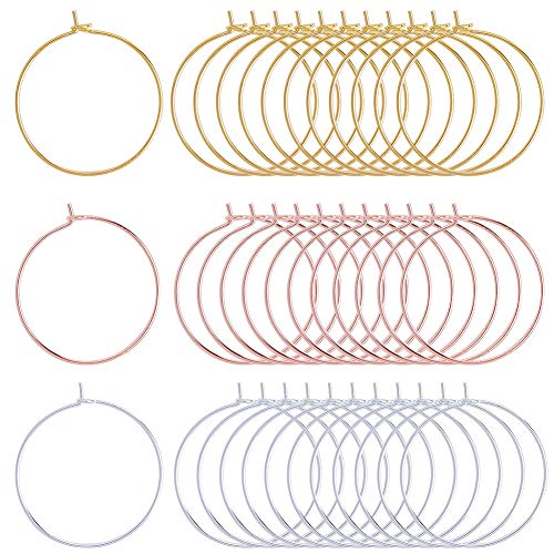 SUNNYCLUE 150pcs 25mm Wine Glass Charm Rings Earring Beading Hoop Jewelry Making Findings for DIY Jewelry Marking Party Wedding Festivals Decoration,Mixed Color