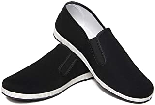 Martial Arts Shoes Unisex Chinese Kung Fu Shoes Tai Chi Shoes Old Beijing Rubber Sole Black