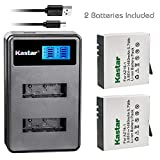 Kastar Battery 2 Pack and LCD Dual Charger for Xiaomi YI AZ16-1, Xiaomi YI AZ16-2 and Xiaomi Yi 4K, Xiaomi Yi 4K+, Xiaomi Yi Lite, Xiaomi YI 360 VR Action Camera