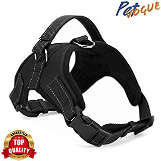 PETVOGUE Comfort Step in Dog Harness Easy to Put on Small Dog Harness Choke Free Adjustable Pet Vest No Pull Outdoor Sport Vest Harness Reflective Soft Padded Vest -XL(Colour May Vary)