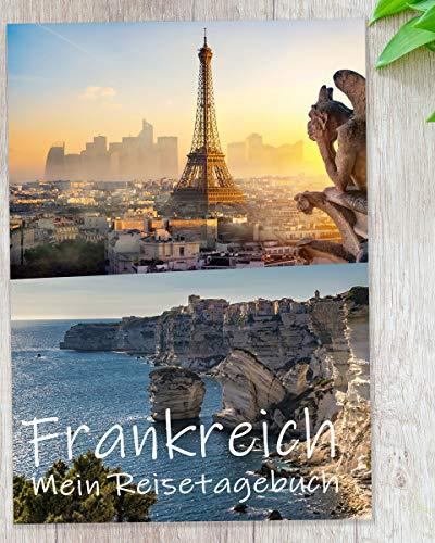 Reisetagebuch Frankreich & Korsika zum Selberschreiben | Tagebuch mit viel Abwechslung, spannenden Aufgaben, tollen Fotos uvm. | gestalte deinen individuellen Reiseführer | Geschenkidee | Calmondo