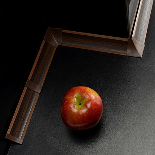 [DQ-PP] Verbinder für Winkelleisten Nuss dunkel für Küchen 23mm x 23mm Arbeitsplatten Grundprofil Abschlussleiste Küchenabschlussleiste Tischplattenleisten