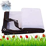 Cubierta de lona de polietileno resistente, Plástico blanco de lonas impermeables, Lona impermeable al aire libre de los muebles del patio, grueso impermeable, resistente a los rayos UV, Rot, Rip Tear