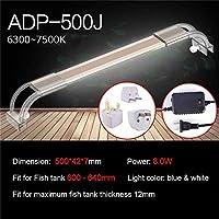 水槽ライト アクアリウムはアクアリウムのための魚飼育用の水槽ランプのためのアクアリウム7500Kの超薄いアルミ合金ライトのための照明を導きました (Color : ADP 500J)