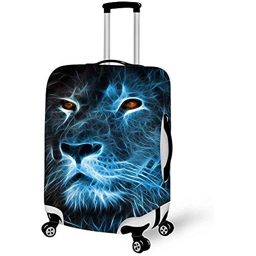 Hochelastische Gepäckkofferabdeckung Diebstahlsicherung Gepäckkoffer Blue Fierce Lion King Art Schutzhülle M.