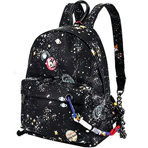 Esther bellezza donna cielo stellato modello in pelle PU zaino scuola borsa da viaggio