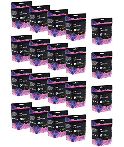 Cartridges Kingdom LC-985 Pack de 20 Cartuchos de Tinta compatibles para Brother DCP-J125, DCP-J315W, DCP-J515W, MFC-J220, MFC-J265W, MFC-J410, MFC-J415W, MFC-J515W (8BK,4C,4M,4Y)