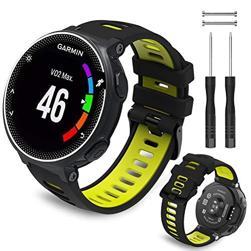 Th-Some Armband für Garmin Forerunner 735XT – Kompatibel mit Forerunner 235 Silikon Ersatzarmband Uhrenarmband,Replacement Wechselarmband für Garmin Forerunner 220, 230, 620, 630, 239 Smart Watch