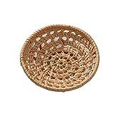 NQ-ChongTian Cesta de almacenamiento de vajilla, cesta de ratán, cesta de almacenamiento tradicional, manual, apta para...
