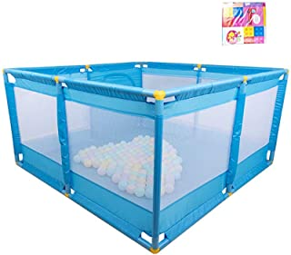 L TSA Double-door Baby Playpens Rollover Prevention Fence Height 66cm Bottom Suction Cup Fence blue