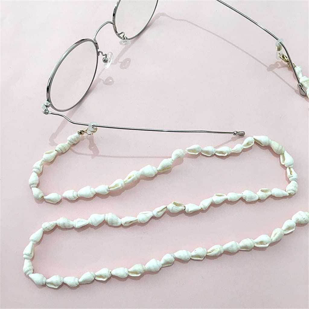GYZX Glasses Chain Holder for Women Natural Shell Lanyard Glasses Strap Sunglasses Cords Casual Glasses Accessories (Color : A, Size : Length-70CM)