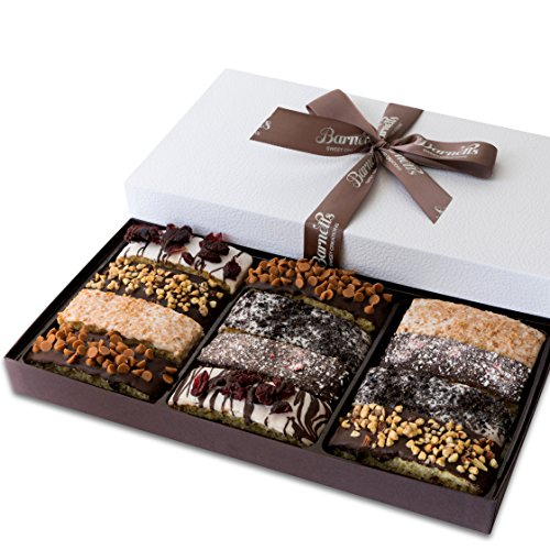 Barnett's Gourmet Chocolate Biscotti Gift Basket, Christmas Holiday Him & Her Cookie Gifts, Prime...