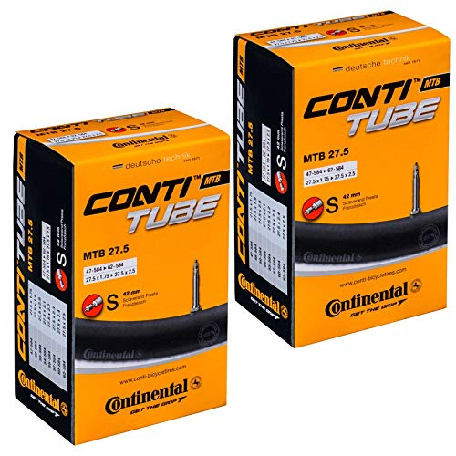 Continental MTB 27.5' x 1.75-2.5 Mountain Bike Inner Tubes with Presta Valve (Pair)