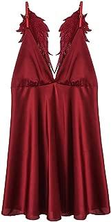 Women's Lace Kimono Babydoll Lingerie Silk Nightgown Sexy Lingerie V Collar G-String Thong Lingerie Sleepwear Underwear