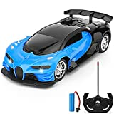 GaHoo Remote Control Car for Kids - 1/16 Scale Electric Remote Toy Racing, with Led Lights Rechargeable High-Speed Hobby Toy Vehicle, RC Car Gifts for Age 3 4 5 6 7 8 9 Year Old Boys Girls (Blue)