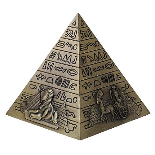 Gazechimp Metall Ägyptische Pyramide Modell Figur Statue für Haus Büro Deko - Bronze