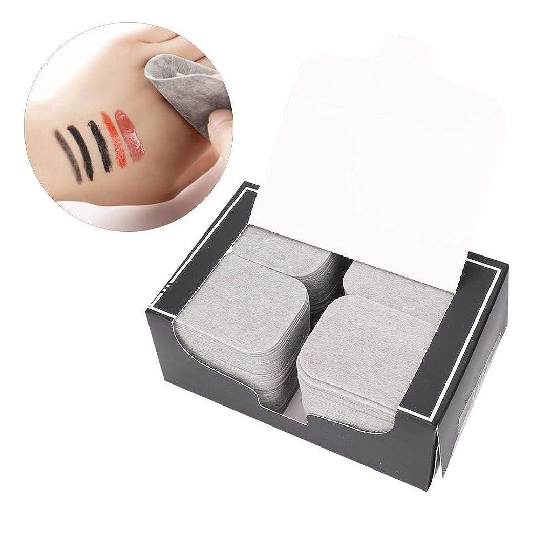 お願いしますトラップ然とした200ピース竹炭タオルメイクアップフェイスクレンジングパッド化粧品除去ツール