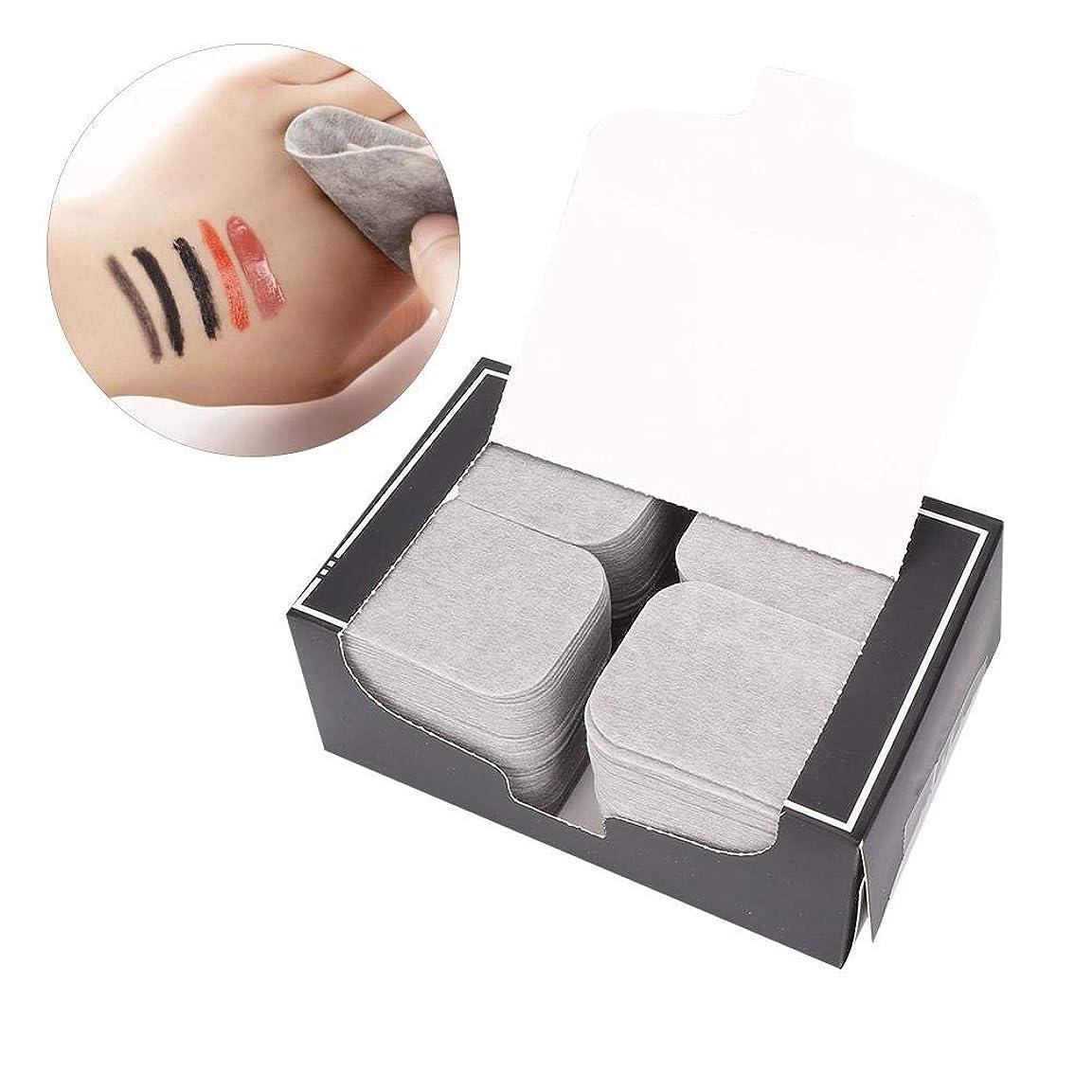 無人版版200ピース竹炭タオルメイクアップフェイスクレンジングパッド化粧品除去ツール