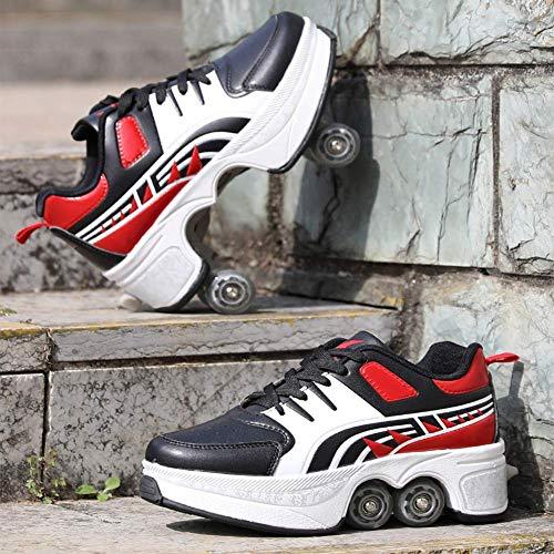 Wedsf Deformation Schoenen, 2-in-1, multifunctionele vervormingsschoenen, quad skate rolschaatsen, voor outdoor, sportschoenen voor volwassenen, maat 35
