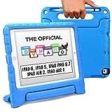 Cooper Dynamo Funda para iPad 6, 5ª generación/iPad Pro 9.7/iPad Air 2, 1   Cubierta, Soporte, Mango, Ranura de Almacenamiento para lápiz (BLU)