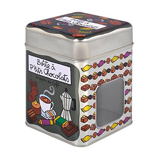 Boîte Hermétique à Petits Chocolats LE COPAIN DU CAFÉ en Métal Dlp Derrière La Porte