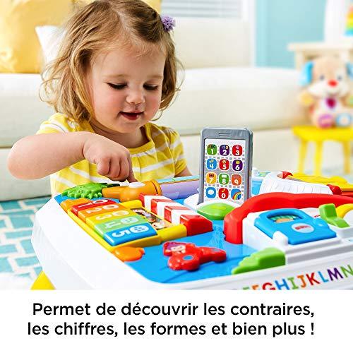 Fisher-Price Table d'Activité Bilingue Eveil Progressif pour bébé avec 5 zones de...
