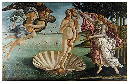 Kit de pintura de diamantes DIY-Sandro Botticelli - Nacimiento de Venus-5D diamante redondo completo, punto de cruz, boceto, regalo, Mejora la capacidad práctica del niño 40x50cm