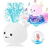 Goodde Juguete de Baño Flotante para Bebés,Electric Induction Spray Ball Light Bathroom Infant Kids Water Bath Play Toy,Aspersor Eléctrico Infantil Lindo Water Polo