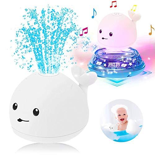 Baby-Badespielzeug, automatisches Induktions-Sprinkler-Badespielzeug, Wal-Sprinkler-Ball mit leichtem Musikbrunnen, elektrisches Sprinkler-Badewannenspielzeug Fischwasserspielzeug für Kinder