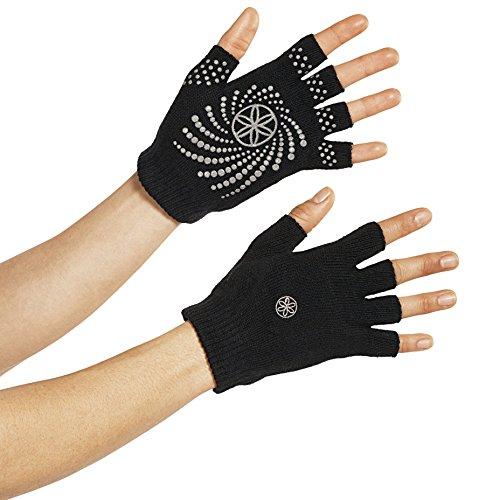 Gaiam Grippy Yoga Gloves, Grey