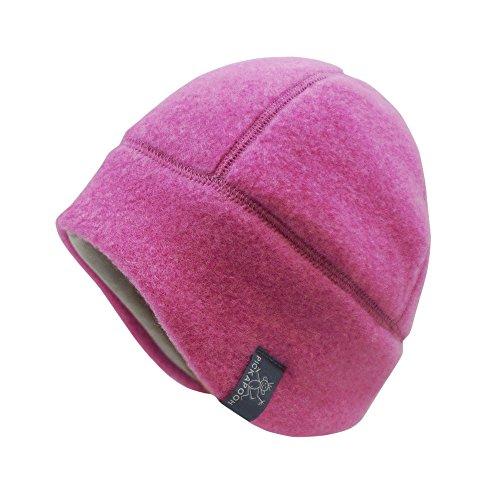 PICKAPOOH Baby/Kinder Mütze Milan Bio-Wollfleece Pink Gr. 52